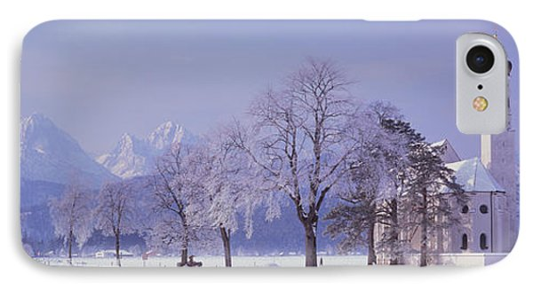 Winter St Coloman Church Schwangau IPhone Case by Panoramic Images