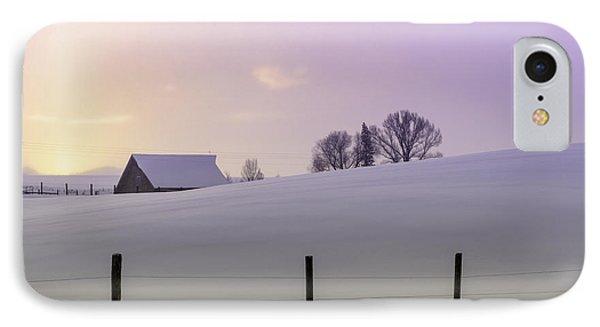 Winter Sunrise Phone Case by Teri Virbickis