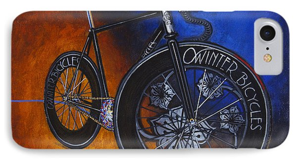Winter Track Bicycle IPhone Case by Mark Howard Jones