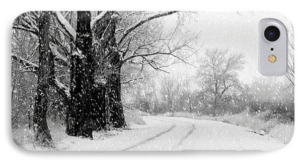 Winter White Season's Greeting Card Phone Case by Carol Groenen