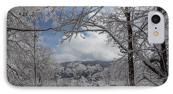 Winter Window Wonder Phone Case by John Haldane