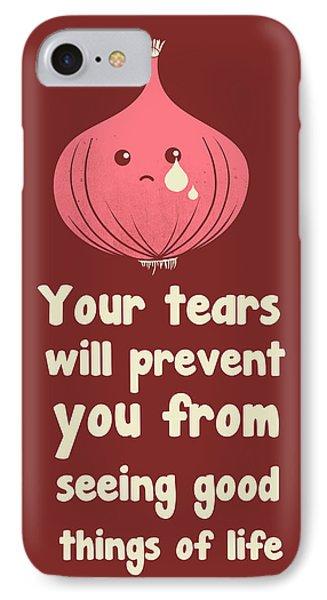 Wipe Off Your Tears Phone Case by Neelanjana  Bandyopadhyay