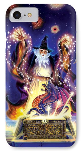 Wizard Dragon Spell IPhone Case by Andrew Farley