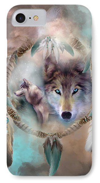 Wolf - Dreams Of Peace IPhone Case by Carol Cavalaris