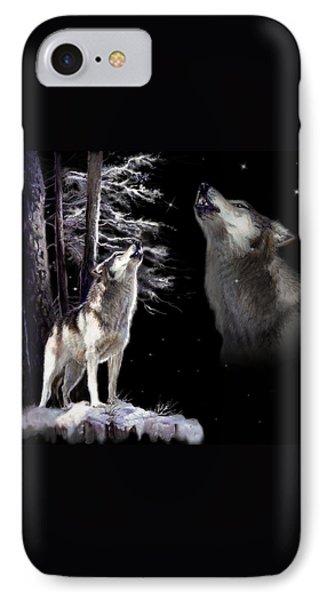 Wolf  Howling Memory IPhone Case by Regina Femrite