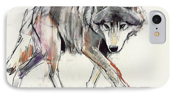 Wolf  IPhone Case by Mark Adlington
