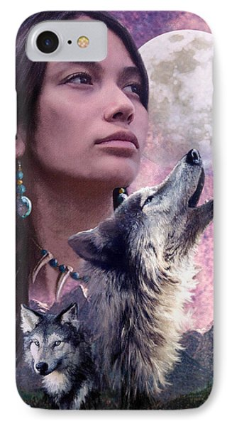 Wolf Montage IPhone Case by Garry Walton