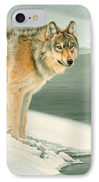Wolf Portrait-lamar Valley  Phone Case by Paul Krapf