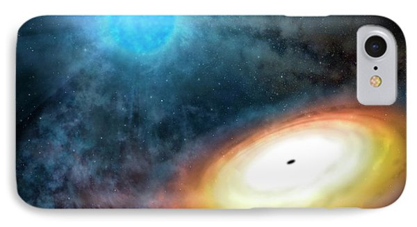 Wolf-rayet Star And Black Hole IPhone Case by Gemini Observatory/aura, Artwork By Lynette Cook