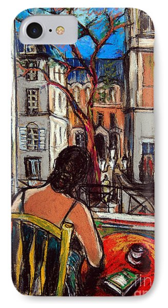 Woman At Window IPhone 7 Case by Mona Edulesco