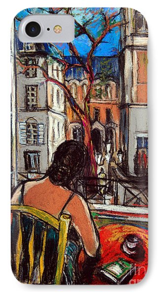 Woman At Window IPhone Case by Mona Edulesco