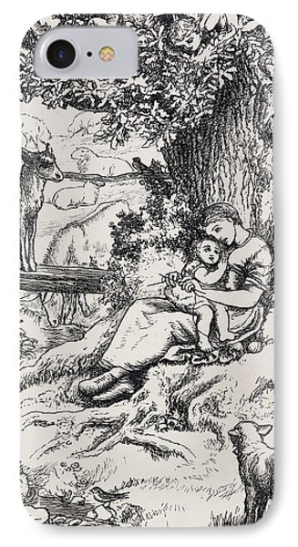 Woman Holding Child IPhone Case by British Library