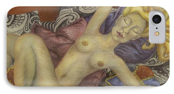 Woman On My Couch Phone Case by Claudia Cox