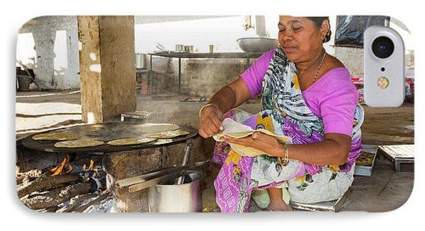 Woman Preparing Chapatis IPhone Case by Ashley Cooper