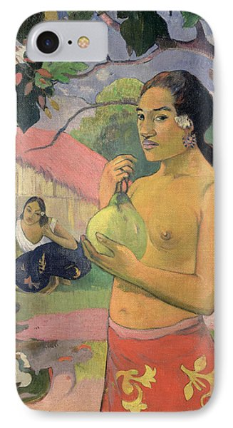 Woman With Mango IPhone Case by Paul Gauguin
