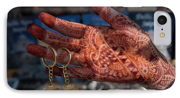 Woman's Palm Decorated In Henna IPhone Case by Keren Su