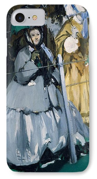 Women At The Races, 1865 Oil On Canvas IPhone Case by Edouard Manet
