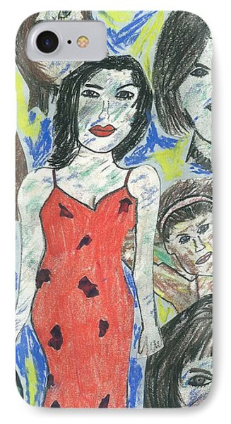 Women Of The 90's Collage Phone Case by Mark Flanagan