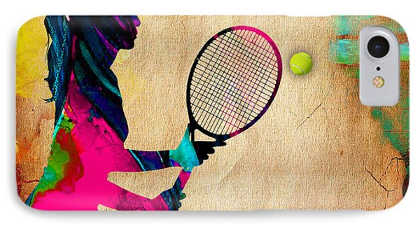 Womens Tennis Painting IPhone Case by Marvin Blaine