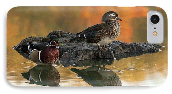 Wood Ducks Phone Case by Dale Kincaid