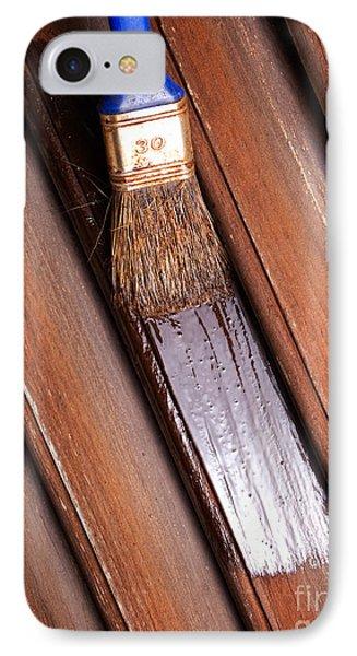 Wood Painting IPhone Case by Sinisa Botas