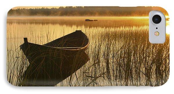 Wooden Boat IPhone Case by Veikko Suikkanen