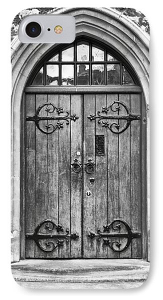 Wooden Door At Tower Hill Bw Phone Case by Christi Kraft