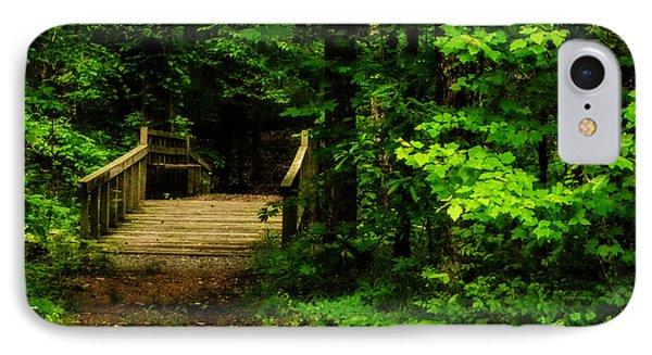 Woodland Foot Bridge IPhone Case by Jon Woodhams