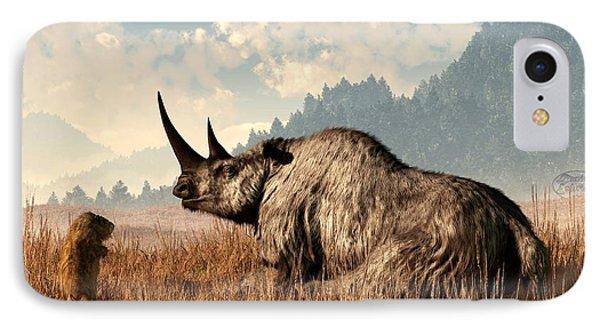 Woolly Rhino And A Marmot Phone Case by Daniel Eskridge