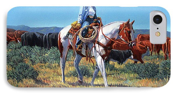 Working Cowgirl Phone Case by Randy Follis