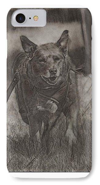 Working Service Dog IPhone Case by Laurietta Oakleaf