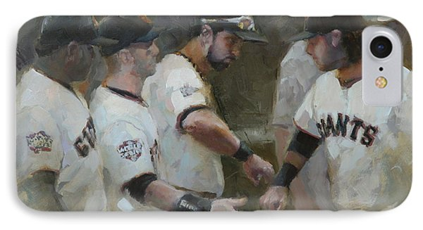 World Series Fist Bump IPhone Case by Darren Kerr