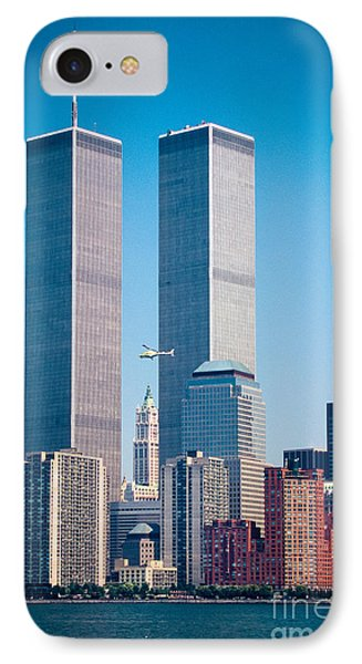 World Trade Center IPhone Case by Inge Johnsson