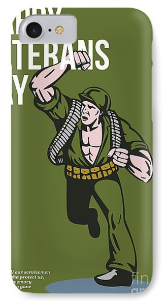 World War Two Veterans Day Soldier Card Phone Case by Aloysius Patrimonio