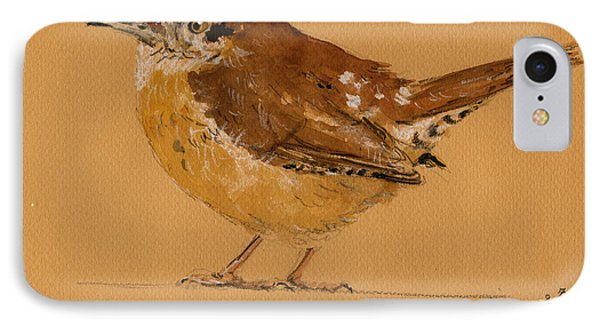 Wren Bird IPhone Case by Juan  Bosco