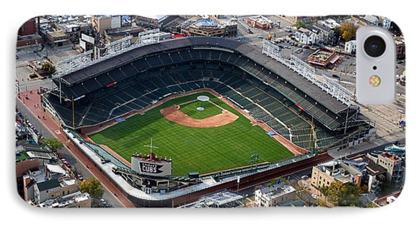 Wrigley Field Chicago Sports 02 IPhone Case by Thomas Woolworth