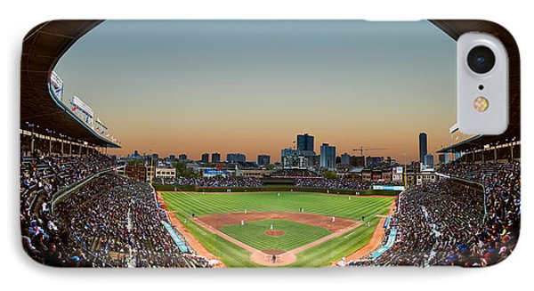 Wrigley Field Night Game Chicago IPhone 7 Case by Steve Gadomski