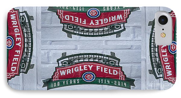 Wrigley Field - One Hundred Years Old IPhone Case by David Bearden