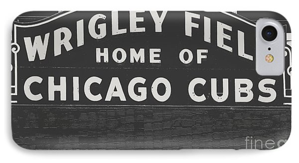 Wrigley Field Sign IPhone Case by Emily Kay