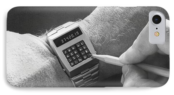 Wristwatch Calculator IPhone Case by Underwood Archives
