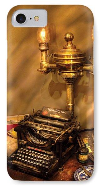 Writer - Remington Typewriter Phone Case by Mike Savad