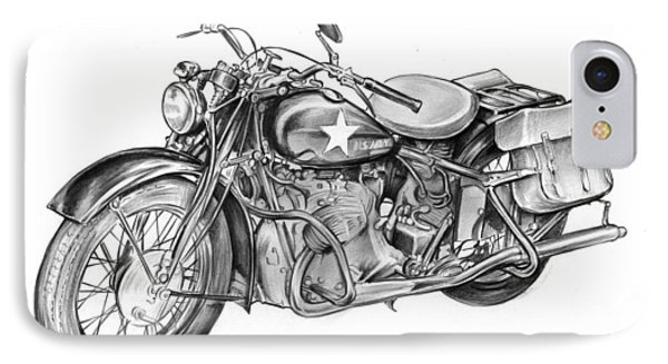 Ww2 Military Motorcycle IPhone Case by Greg Joens