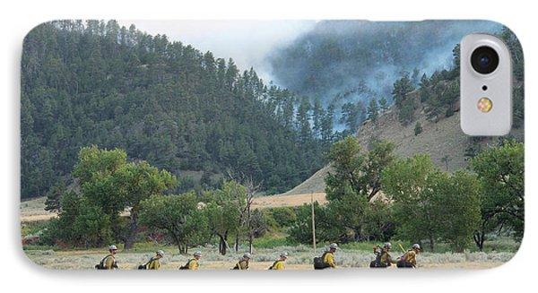 IPhone Case featuring the photograph Wyoming Hot Shots Walk To Their Assignment by Bill Gabbert