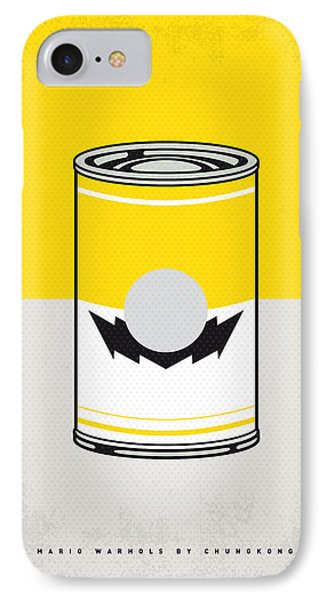 Y Mario Warhols Minimal Can Poster-wario IPhone Case by Chungkong Art