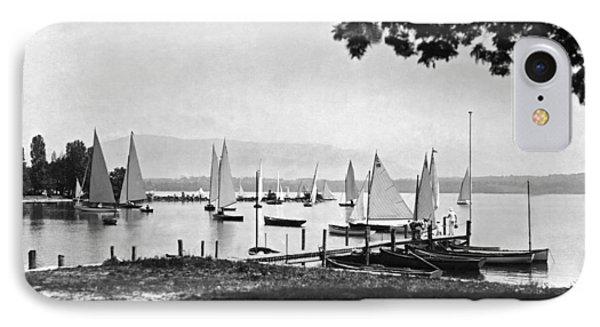 Yachts On Lake Geneva IPhone Case by Underwood Archives