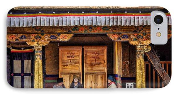 Yak Butter Tea Break At The Potala Palace IPhone Case by Joan Carroll