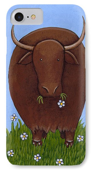 Whimsical Yak Painting IPhone Case by Christy Beckwith