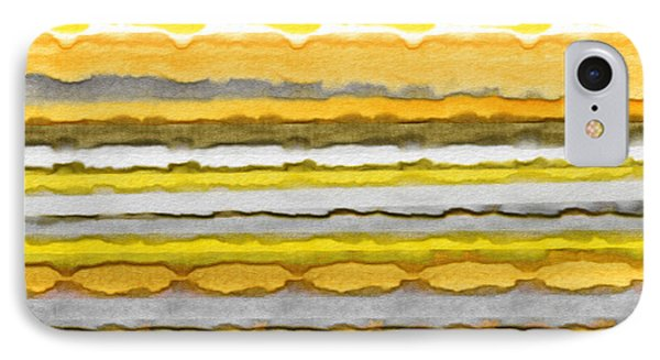 Yellow And Gray Stripes Art IPhone Case by Lourry Legarde