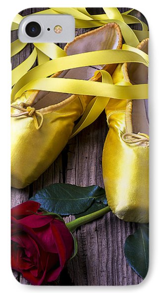 Yellow Ballet Shoes Phone Case by Garry Gay