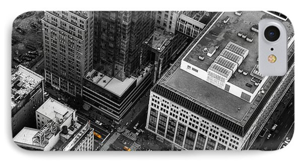 Yellow Cabs - Bird's Eye View Phone Case by Hannes Cmarits